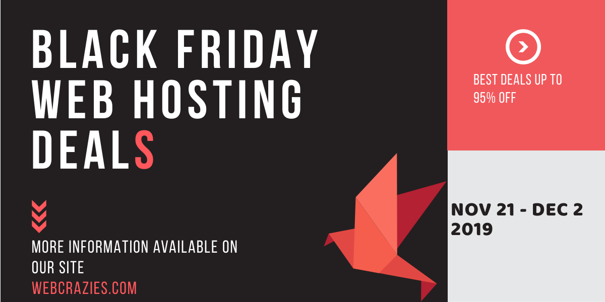 Black Friday Cyber Monday Web Hosting Deals 2019